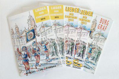 Broschüre Burggraf und Liederheft