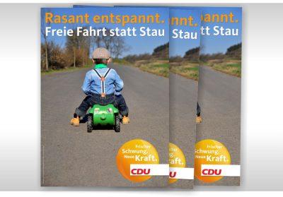 Plakat CDU Freie Fahrt statt Stau