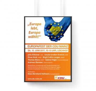 Plakat CDU Europafest